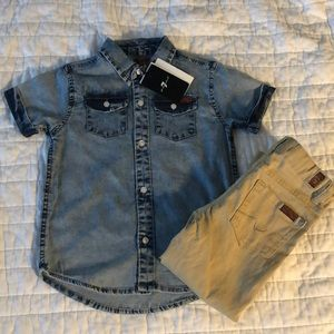 7 for all mankind** Toddler Boy 2-pc Outfit